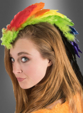 Colourful Feather Hairpiece