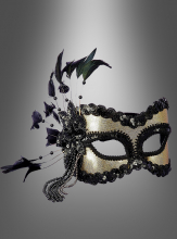Venice Eye Mask black-gold