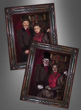 Halloween Wandbild Viktorianisches Paar