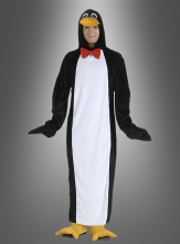 Plush penguin costume adult