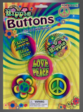 Hippie Buttons for Costumes