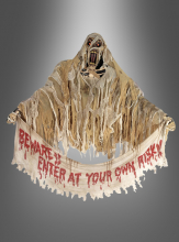 Mummy hanging prop with banner and led lights