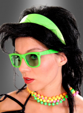 80er Jahre Haarreif Neonfarben