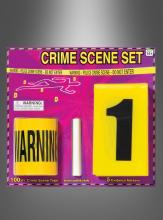 Kriminalfall Absperrband mit Zubehör