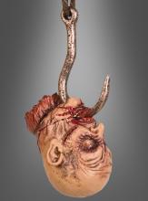 Kopf am Haken Halloweendeko