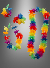 Luau Multi Flower Lei Set