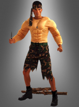 Soldier Muscle Chest Costume