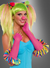 Clown Sweetie Fishnet Gloves