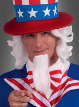 Uncle Sam wig and beard