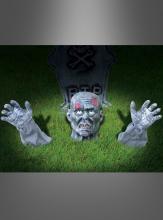 Zombie Gartendekoration Kopf und Arme