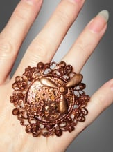 Verstellbarer Steampunk Ring