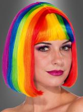 Rainbow Bob Wig