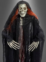 Skeleton Decoration with Red Hair