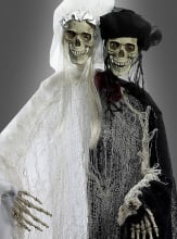 Skeleton Bride and Groom hanging Prop