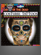 Sugar Skull Tattoo Face Male