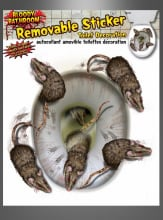 Toilet Stickers Rats for Halloween