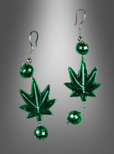 Marijuana Leaf Earrings