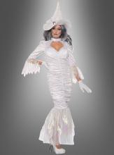 Weiße Hexe Damenkostüm