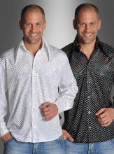 Sequin Shirt Black or White