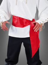 Satin Sash red for Pirates
