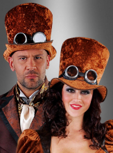 Brown Top Hat Steampunk