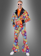 Multicolor Suit for Men 70s Smile
