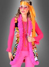Hippie Weste Neon Psychodelic