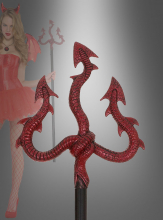 Red Trident with Snakes 115 cm