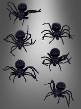 Spinnen 6 Stück Halloweendeko