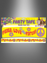 Hippie Peace Love Party Band 6,10 Meter