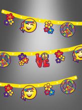 Hippie Party Banner 2,10 Meters
