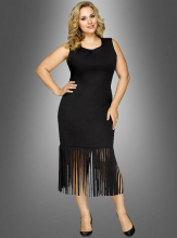 Fringe Dress Black Plus Size
