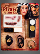 Pirate Make-up Set for Women and Men