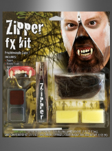 Werwolf Make-up Set Zipper