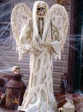 Skelettengel mit Flügel Stehdeko weiß
