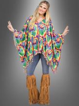 Farbenfroher Hippie Poncho
