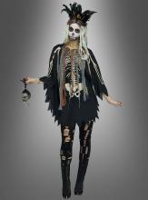 Voodoo Skelett Poncho