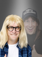 Garth Algar Wig and Glasses