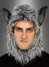 Grey Wolf Hood with Ears