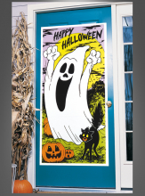Door cover Halloween Ghost