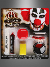 Killer Clown Makeup Kit with Nose