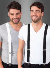 Suspenders black or white