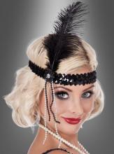 Charleston headband with feather
