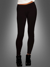 Black Leggings Opaque Adult