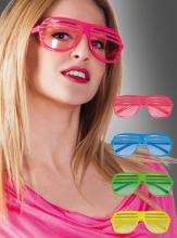 Neon Gitterbrille Vegas halbvergittert