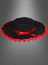 Spanier Hut schwarz-rot