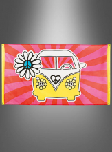 Big Hippie Flag 150 x 90 cm