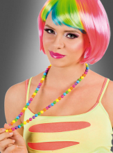 Multicolor Pearl Necklace Rainbow