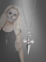 Kreuzkette mit Totenkopf
