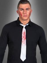 Blutige weiße Krawatte